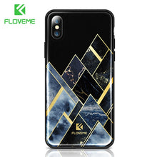 Load image into Gallery viewer, FLOVEME Luxury Phone Case For iPhone X 8 7 Soft Edge Agate Pattern Cases for Apple iPhone 7 7 8 Plus Cover Silicone Accessories - Case Smart