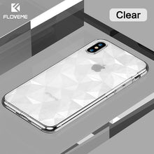 Load image into Gallery viewer, FLOVEME 3D Diamond Pattern Phone Case For iPhone X Luxury Ultra Thin Soft TPU Cases For iPhone 7 8 6 6s Plus Shining Cover Capa - Case Smart
