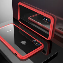 Load image into Gallery viewer, Baseus Luxury Glass Case For iPhone X 10 Coque Soft TPU Transparent Glass Back Protective Cover For iPhonex i Phone X Capinhas - Case Smart