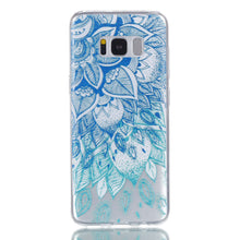 Load image into Gallery viewer, Phone Case Blue Leaf Embossed Full-body Soft Drop Resistance Protective Phone Cover for Samsung - Case Smart