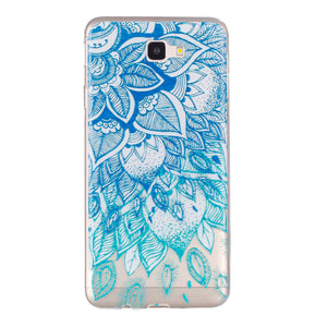 Phone Case Blue Leaf Embossed Full-body Soft Drop Resistance Protective Phone Cover for Samsung - Case Smart
