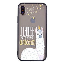 Load image into Gallery viewer, Alpaca Pattern Phone Case Soft Ultrathin TPU Case Embossment Varnish Design Drop-proof Phone Case Shell for iPhone - Case Smart