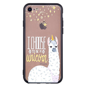 Alpaca Pattern Phone Case Soft Ultrathin TPU Case Embossment Varnish Design Drop-proof Phone Case Shell for iPhone - Case Smart