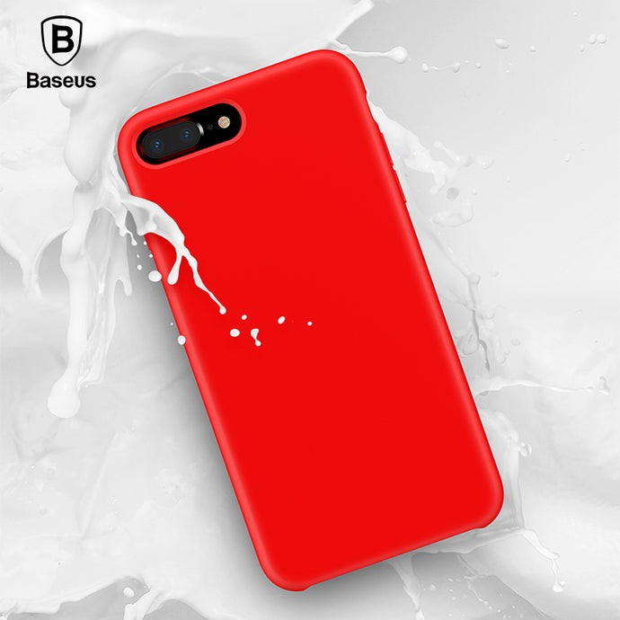 Baseus Original Official Liquid Silicone Case For iPhone 7 8 Lovely Candy Color Phone Case For iPhone 7 Plus 8 Plus Cover Coque - Case Smart
