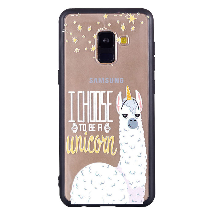Alpaca Pattern Phone Case Soft Ultrathin TPU Case Embossment Varnish Design Drop-proof Phone Case Shell for Samsung - Case Smart