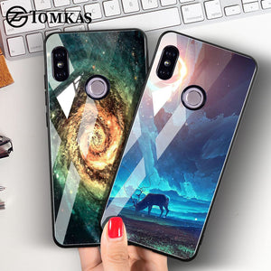 TOMKAS Tempered Glass Case For Xiaomi Redmi Note 5 Global 4X Space Coque Case Redmi 4X 5 Plus Cover Phone Cases For Xiaomi Mi A1 - Case Smart