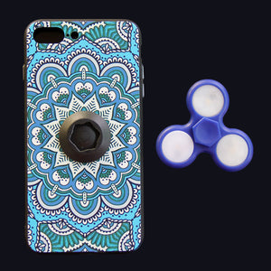 Colorful Hard Phone Case With LED Light Finger Spinner Toy For Iphone7 - Case Smart