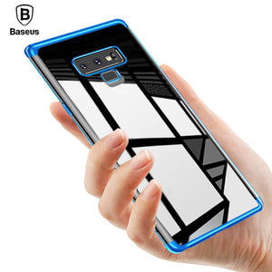 Baseus Luxury Plating Case For Samsung Galaxy Note 9 Coque Soft TPU Transparent Clear Silicone Back Cover Case For Galaxy Note9 - Case Smart