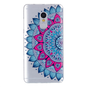 Fashion Phone Case Mandala Flower Cover Soft Phone Cover Protective Phone Shell for Xiaomi Redmi Note4 - Case Smart