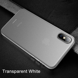Phone Case For iPhone X Xr Xs Max Coque Baseus Ultra Thin Slim Hard PP Frosted Cover For iPhoneXs X S Xr Xsmax Fundas Capinhas - Case Smart
