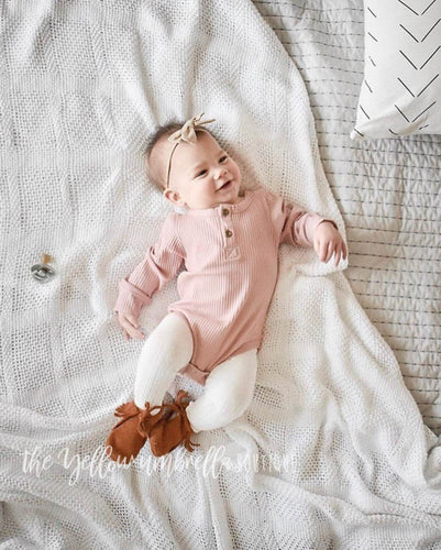 Ribbed Cotton Onesie [Pink] (FINAL SALE!)