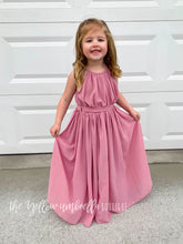 Load image into Gallery viewer, Chiffon Maxi Dress [Dusty Pink] (FINAL SALE!)