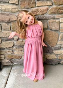 Chiffon Maxi Dress [Dusty Pink]