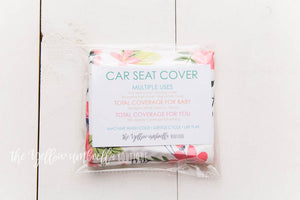 Multi-Use Baby Car Seat Cover [Blush Peony & Daisy Floral]