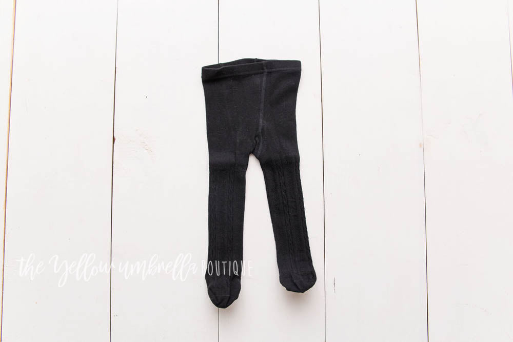 Cable Knit Tights [Black]