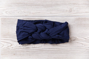 Sailor Knot Nylon Headwrap [Navy]