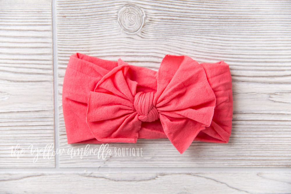 Nylon Headwrap [Coral]