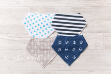 Load image into Gallery viewer, Bandana Drool Bibs 4-pack [Noah]