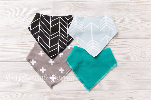 Bandana Drool Bibs 4-pack [Aiden]