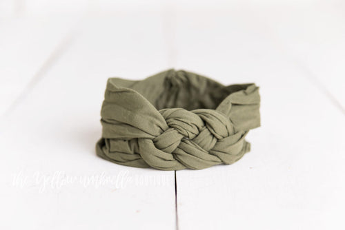 Sailor Knot Nylon Headwrap [Olive Green]