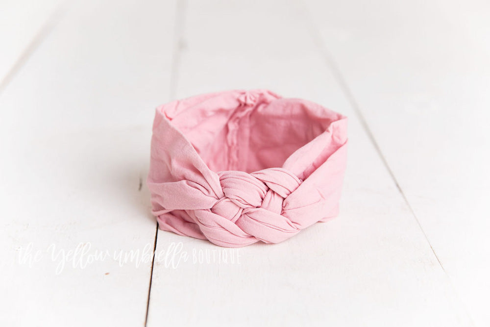 Sailor Knot Nylon Headwrap [Dusty Pink]
