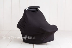 Multi-Use Baby Car Seat Cover [Solid Black]