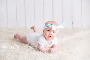 Thick Bowknot Headwrap [Turquoise & Blush Arrow + Gold Confetti]