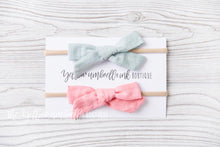 Load image into Gallery viewer, Large Nylon Headbands 2 Piece [Sage + Blush]