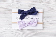 Load image into Gallery viewer, Large Nylon Headband 2 Piece [Navy + Lavender]