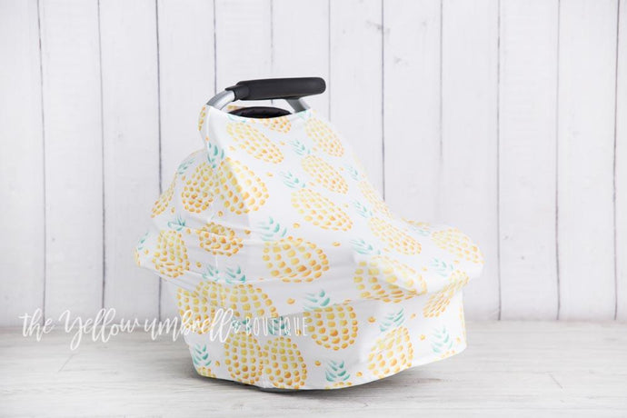 Pineapple Baby Car Seat Cover