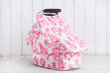 Load image into Gallery viewer, Rose Floral Baby Car Seat Cover