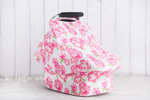 Rose Floral Baby Car Seat Cover