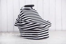 Load image into Gallery viewer, Multi-Use Baby Car Seat Cover [Thick Black & White Stripe]