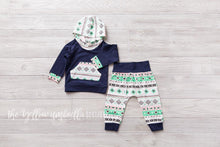 Load image into Gallery viewer, Girl Hoodie Outfit [Navy Blue Aztec]