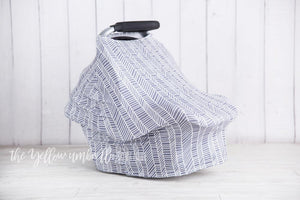 Multi-Use Baby Car Seat Cover [Gray Herringbone]