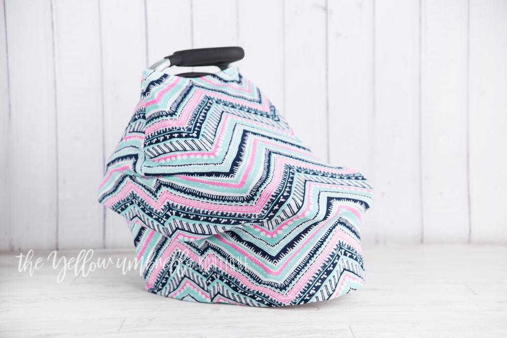 Pink & Turqoise Aztec Baby Car Seat Cover