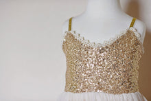 Load image into Gallery viewer, Gold Sequin Dress (FINAL SALE!)