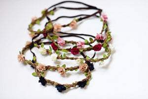 Braided Leather Floral Headband (FINAL SALE!)