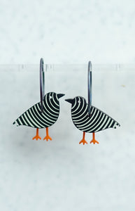 bird black/white striped