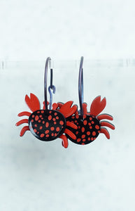 Crab, red/black