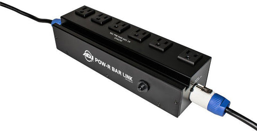 AMDJ POW-R-BAR LINK Power Box with 6 Surge Protected Power Sockets - 6 Foot Removable PowerCon Power Cord Included