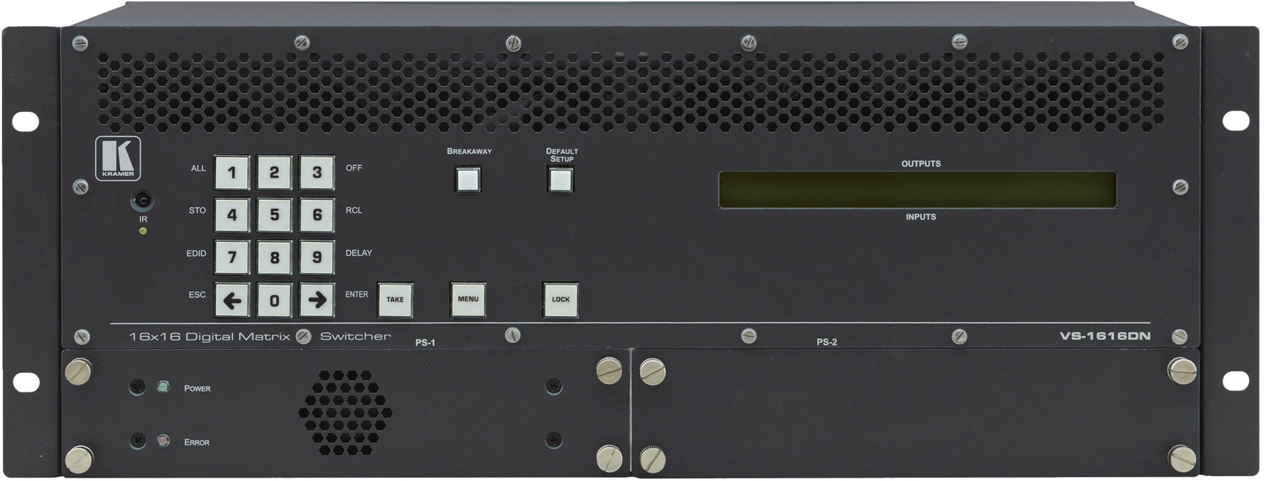 Kramer VS-1616DN-EM 2x2 to 16x16 Modular Multiformat 4K Digital Matrix Switcher