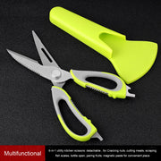 Kitchen Scissors Magnetic Knife Seat Removable Stainless Steel Scissors