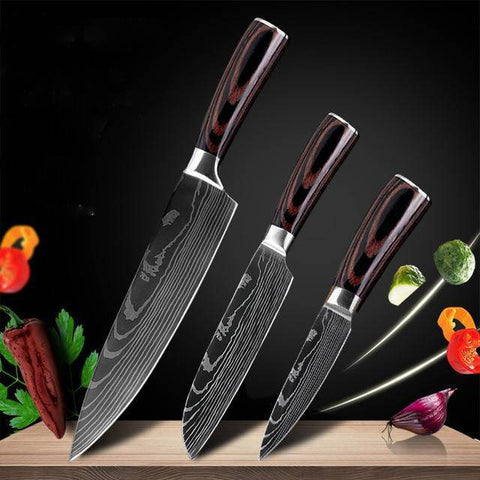 Kitchen Chef Knife Set High Carbon Stainless Steel