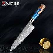 Damascus Steel Japanese VG10 Chef Knife Paring Fruit Vegetable Kitchen knife