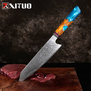 Damascus Kitchen Knife Japan VG10 Steel Professional Kiritsuke Chef Knife