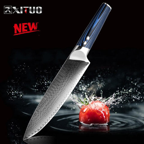 Chef Knife Damascus Steel vg10 Japanese Knife Sashimi Santoku Tool