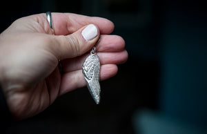 Wide Angel Wing Keychain