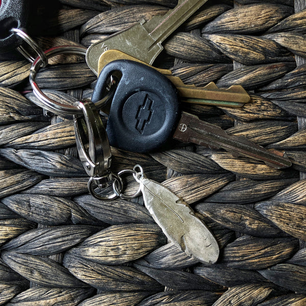Smooth Feather Keychain