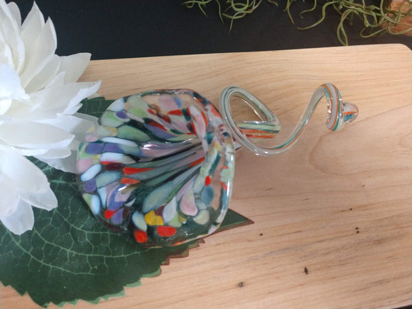 Hand blown glass flower Confetti